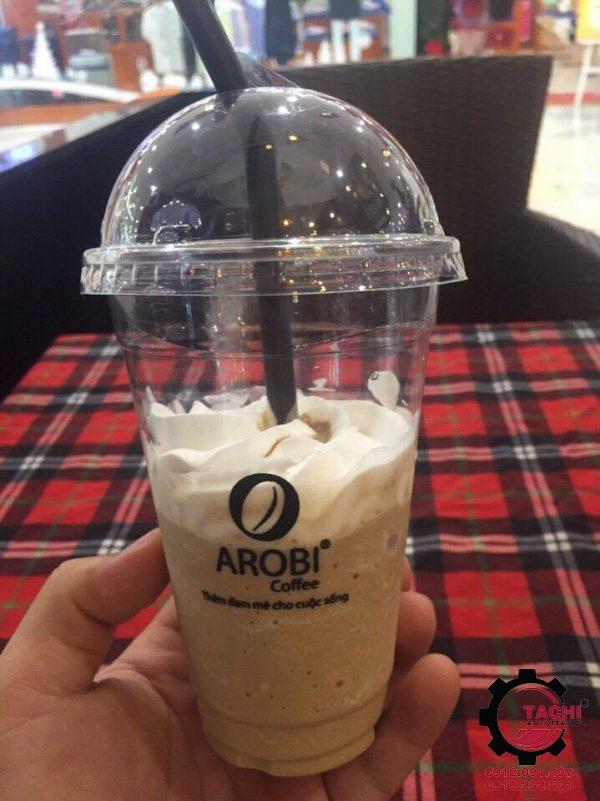 In ly nhựa nắp cầu Arobi Coffee